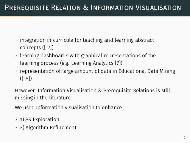 Visualisation Analysis For Exploring Prerequisite Relations In Textbooks Slide 3