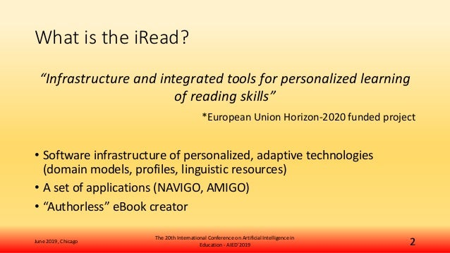Interactive and Personalized Activity eBooks for Learning to Read: The iRead Case Slide 2