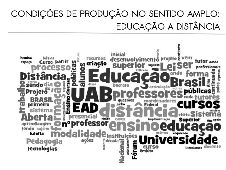 PRÁTICAS PEDAGÓGICAS NA EDUCAÇÃO A DISTÂNCIA: DESLOCAMENTO