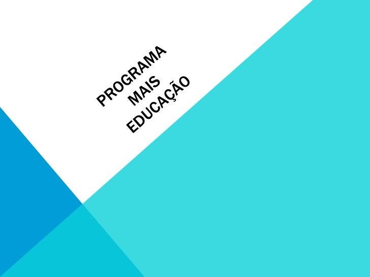 Páscoa do Programa Mais Educação