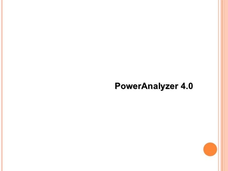 PowerAnalyzer 4.0