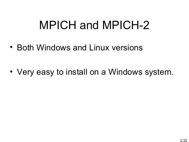 Mpi Linux Install