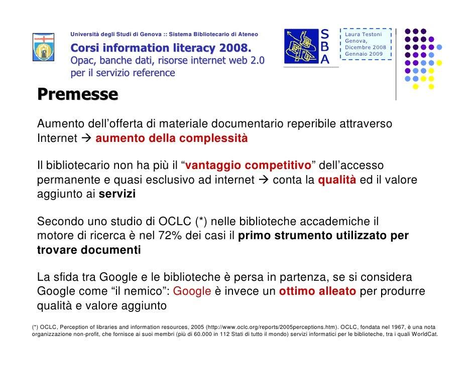 Università degli Studi di Genova :: Sistema Bibliotecario di Ateneo                Università                             ...