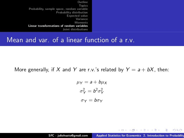 joint pdf of 2 random variables x v u