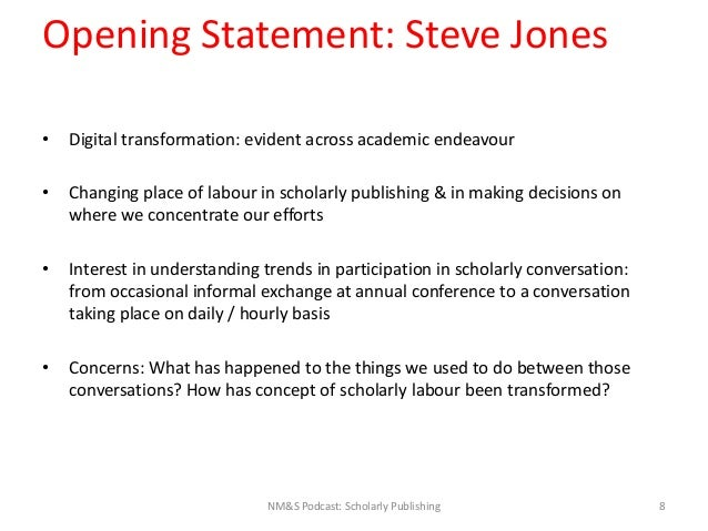 Slides Accompanying Introductory Statements, NM&S Podcast