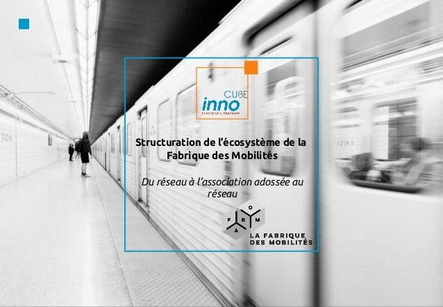 Structuration de l'écosystème de la Fabrique des Mobilités Du réseau à l'association adossée au réseau