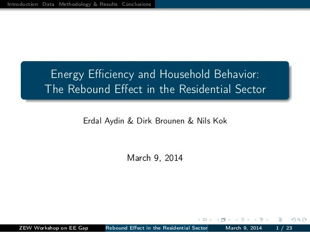 Introduction Data Methodology & Results Conclusions Energy Efficiency and Household Behavior: The Rebound Effect in the Resid...