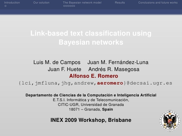 Introduction      Our solution       The Bayesian network model   Results   Conclusions and future works                  ...