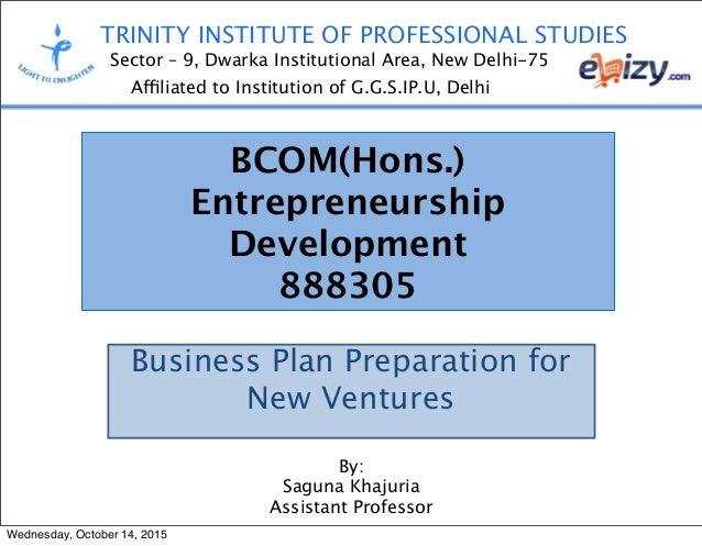 junai preparation of business plan