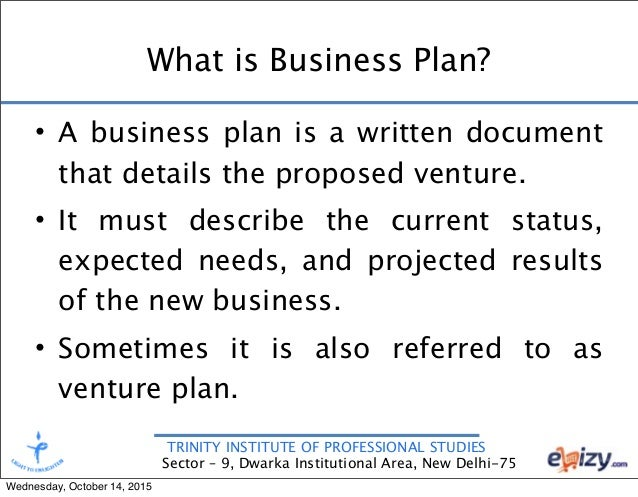 new venture business plan