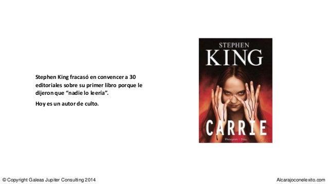 """Stephen King fracasó en convencer a 30 editoriales sobre su primer libro porque le dijeron que """"nadie lo leería"""". Hoy es u..."""