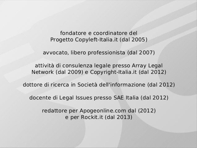 Aliprandi - Anacronismi del sistema SIAE - 11-04-13 Slide 3