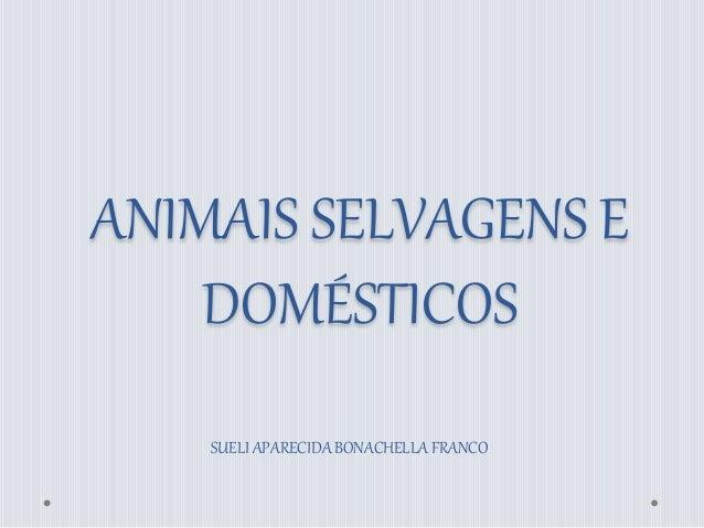 ANIMAIS SELVAGENS E  DOMÉSTICOS  SUELI APARECIDA BONACHELLA FRANCO