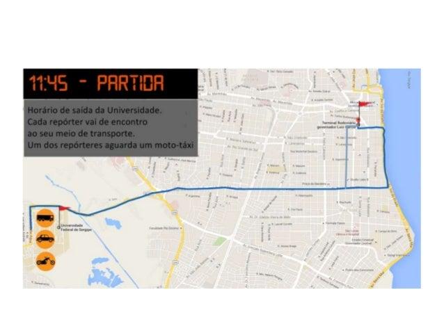 Trajeto: Universidade Federal de Sergipe - Terminal Rodoviário