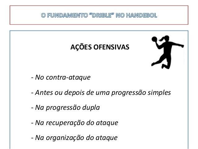 AÇÕES OFENSIVAS - No contra-ataque - Antes ou depois de uma progressão simples - Na progressão dupla - Na recuperação do a...