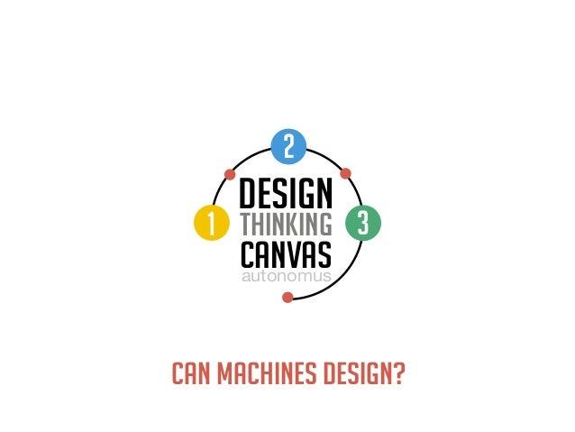 DESIGN THINKING autonomus CANVAS 1 2 3 CAN MACHINES DESIGN?
