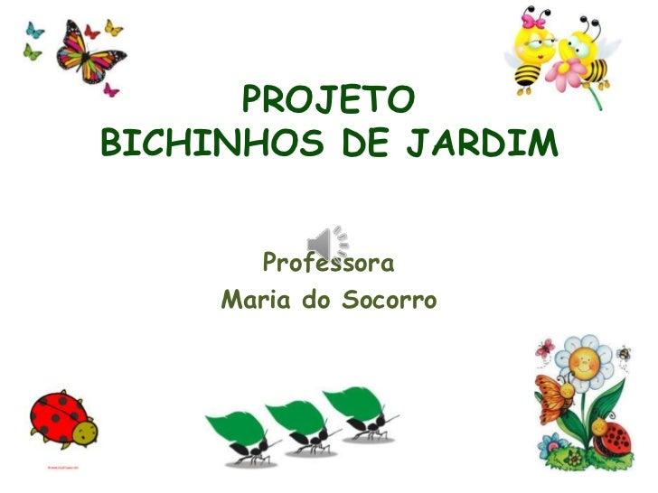 PROJETOBICHINHOS DE JARDIM       Professora     Maria do Socorro