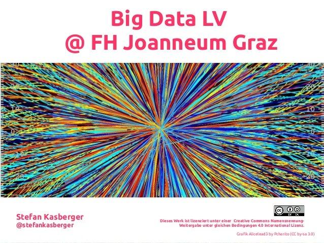 Big Data LV @ FH Joanneum Graz Dieses Werk ist lizenziert unter einer Creative Commons Namensnennung- Weitergabe unter gle...