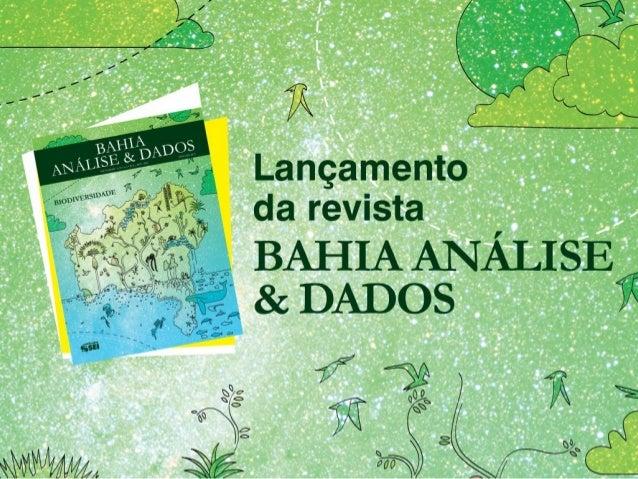 Lançamento Bahia Análise & Dados - Biodiversidade
