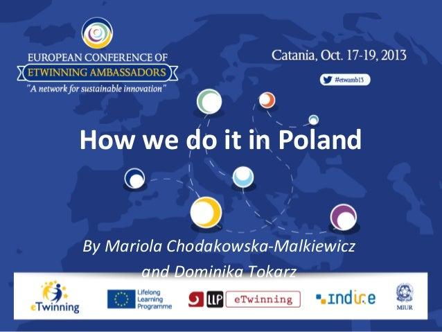 How we do it in Poland  By Mariola Chodakowska-Malkiewicz and Dominika Tokarz