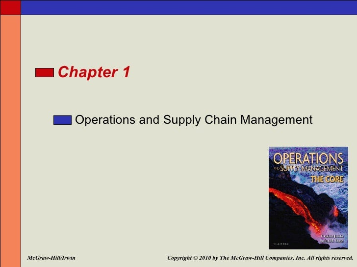 Chapter 1                Operations and Supply Chain ManagementMcGraw-Hill/Irwin             Copyright © 2010 by The McGra...