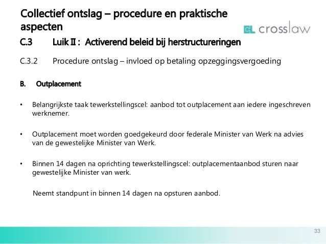 ontslagbrief aangetekend opsturen Slides collectief ontslag 08032016 nl ontslagbrief aangetekend opsturen