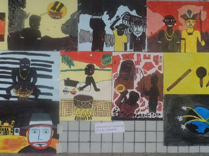 Arte Afro/Indígena produzida por alunos da Escola São José