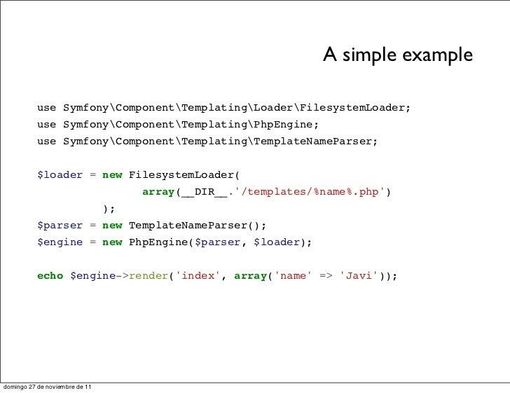 php template inheritance - slides components en