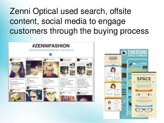 Zenni's content experiences drove results across the entire customer journey Paid & organic traffic, social media likes, f...