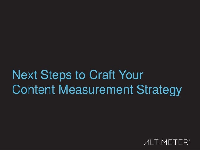 1. Measurement must be the foundational principal of content strategy