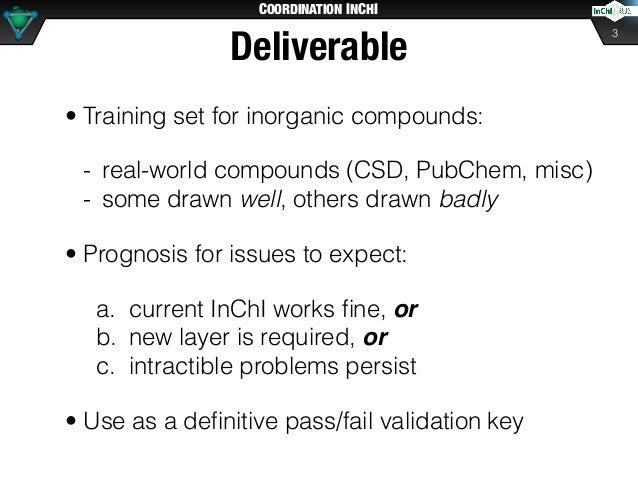 Coordination InChI (2019) Slide 3