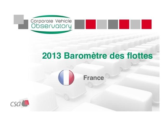 2013 Baromètre des flottesFrance