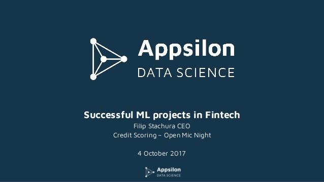 Successful Machine Learning projects in Fintech