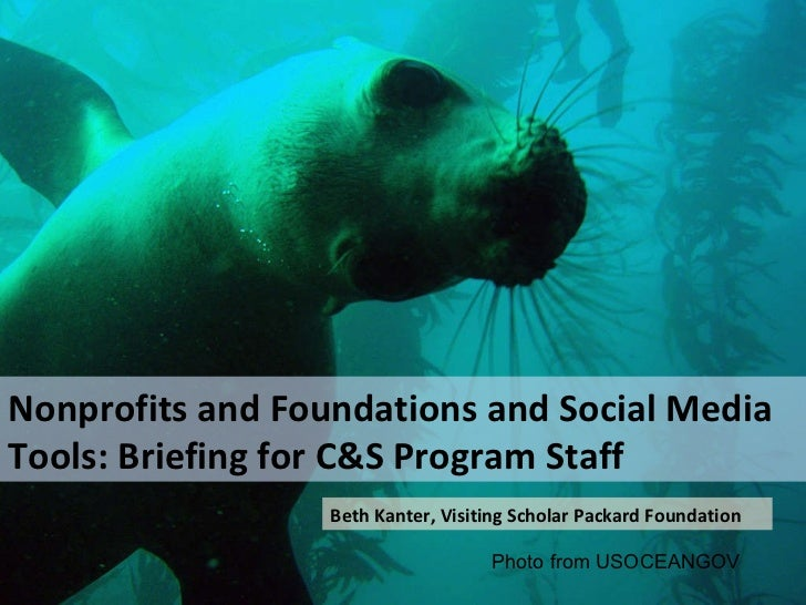 Photo by mikebaird Nonprofits and Foundations and Social Media Tools: Briefing for C&S Program Staff Beth Kanter, Visiting...