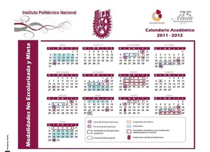 Calendario F.Calendario Escolar Semi Escolarizado