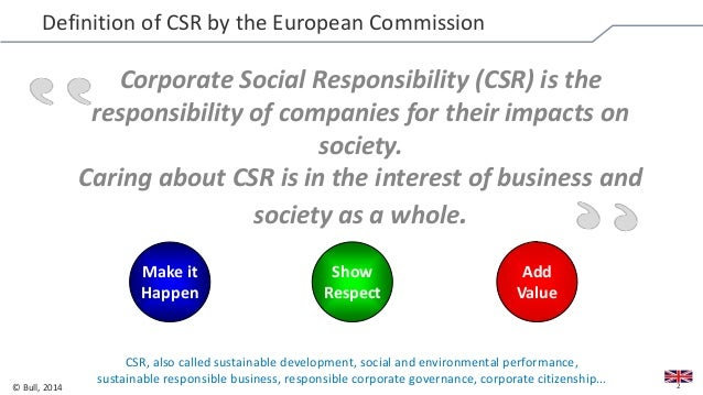 definition of csr Handbook on corporate social responsibility in india 7 what is csr the global context while there may be no single universally accepted definition of csr, each.