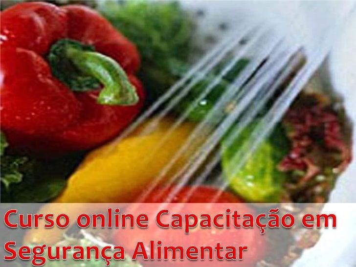 Slides curso online capacitacao em seguranca alimentar