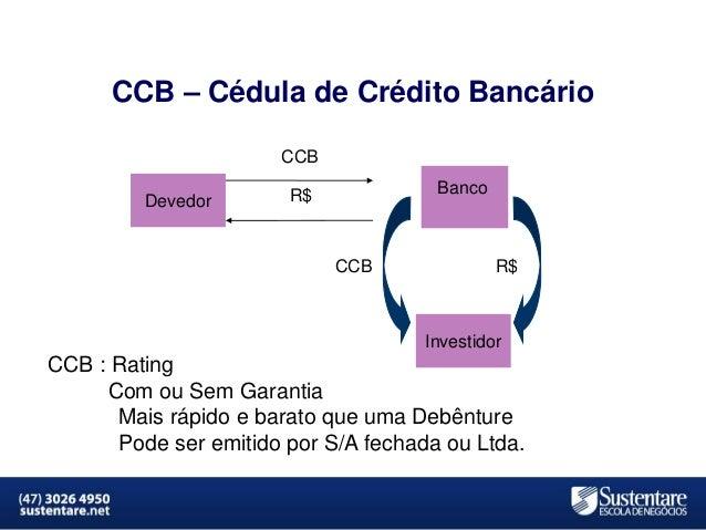 CCB – Cédula de Crédito Bancário CCB Devedor  Banco  R$  CCB  R$  Investidor  CCB : Rating Com ou Sem Garantia Mais rápido...