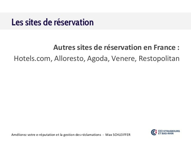 La gestion d 39 e r putation pour hotels restaurants for Plateforme reservation hotel