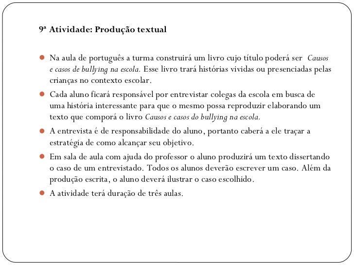 9ª Atividade: Produção textual Na aula de português a turma construirá um livro cujo título poderá ser Causos   e casos ...