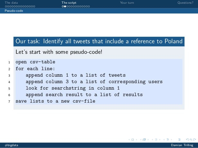 Analyzing social media with Python and other tools (2/4)