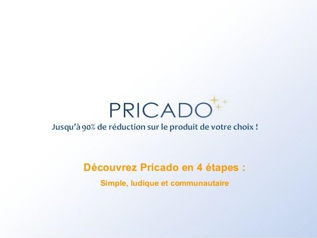 Découvrez Pricado en 4 étapes : Simple, ludique et communautaire