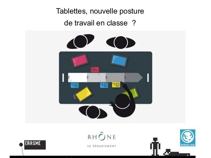 Tablettes, nouvelle posture  de travail en classe ?