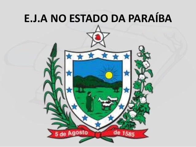 E.J.A NO ESTADO DA PARAÍBA