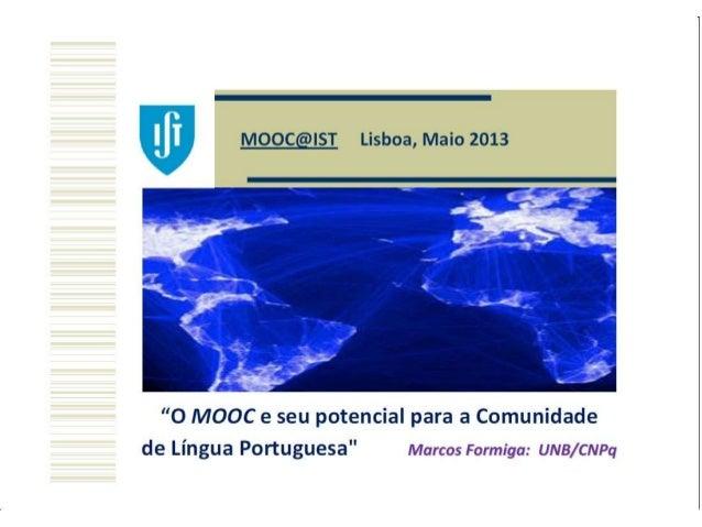 MOOC e seu Potencial para a comunidade