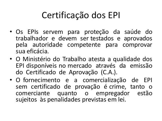 20. Certificação dos EPI ... 856230ef41