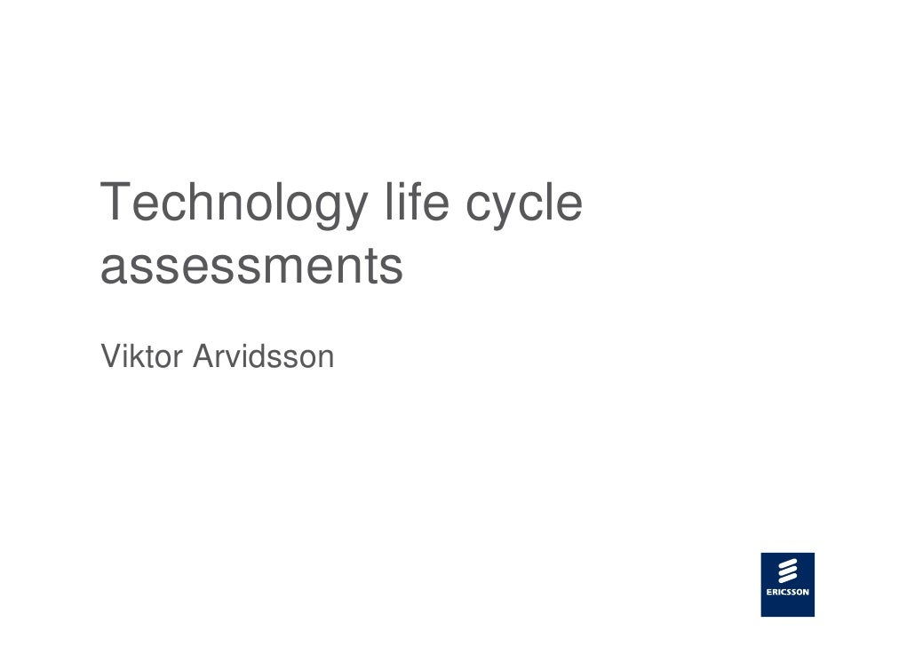 Technology life cycle assessments Viktor Arvidsson