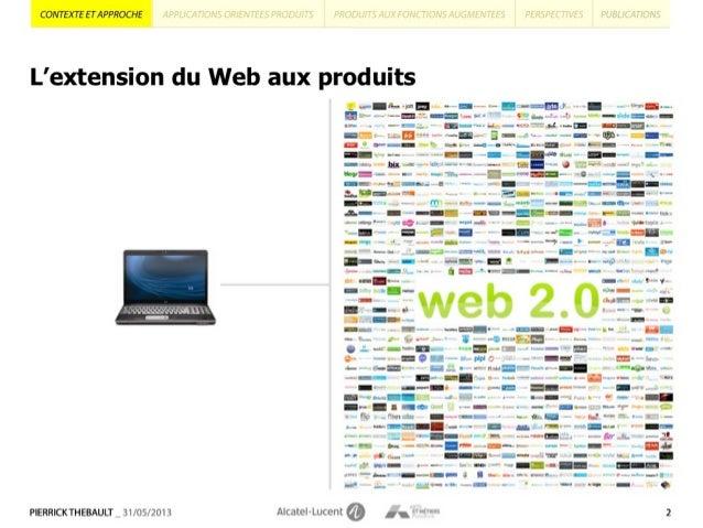 La conception à l'ère  de l'Internet des Objets: modèles et principes pour le design de produits aux fonctions augmentées par des applications Slide 2