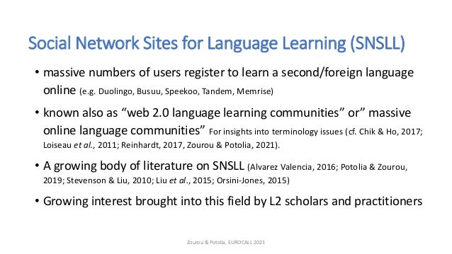 Impact of peer interaction on learning practices in a Social Network Site for Language Learning Slide 3