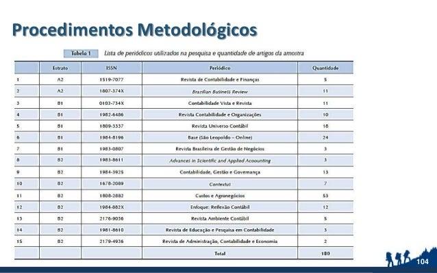 Procedimentos Metodológicos 104
